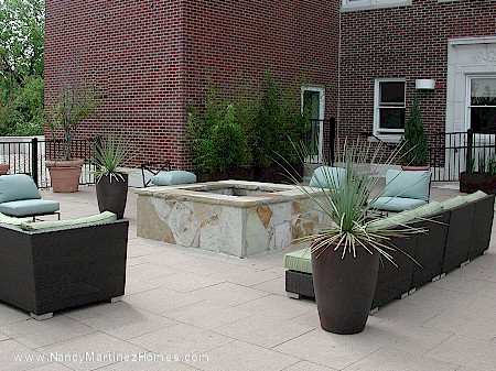 Sun deck and fire pit