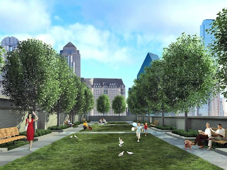 "Artist rendering of ""Terrace Gardens"""