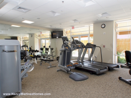 Fitness center was completely redone in 2009